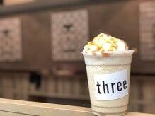 スリー(three)の雰囲気(自慢のフラペチーノ!キャラメル、抹茶、チョコ、コーヒー♪)