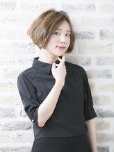 アーサス ヘアー デザイン 長岡 新潟6号店(Ursus hair Design)ハイライト×くせ毛風ボブ