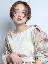 テトヘアー(teto hair)short(ハンサムショート、マッシュ、ブラウン、ベージュ)