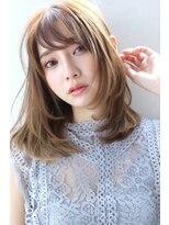 【Blanc/目黒】3Dカラー/くびれセミディ/ベージュカラー 2