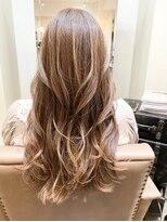 ナナナパレナ 心斎橋店(nanana parena)白髪ぼかしハイライトグラデ♪髪質改善トリートメントで艶髪