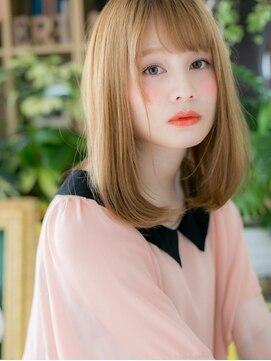 カバーヘア イヴ 戸頭店(COVER HAIR EVE)*+COVER HAIR+*…ハイトーンx斜めバング★ドーリーストレートa