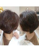 ラヴィヘアスペース(La Vie hair space)白髪染め+部分パーマ