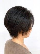 小顔ショート/艶カラー/ダークカラー/白髪染め/40代50代60代