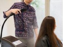 ヘアースタジオ ザ エッジ 芦屋店(Hair Studio The edge)の雰囲気(超微粒子のnanoスチーム。潤いを髪の芯まで浸透。)