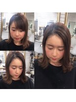 ビーヘアサロン(Beee hair salon)【渋谷エクステ・カラーBeee/安部 郁美】A/W前髪エクステ