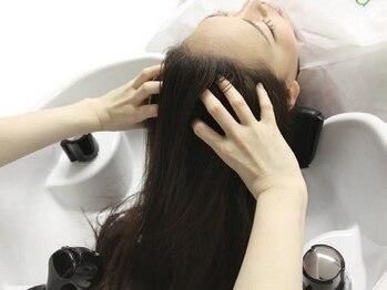 サンク ヘア アンド スパ パルシェ店(CINQ hair&spa)の写真/半個室の上質空間でのヘッドスパ*クリームスパやドライヘッドスパなどニーズに合わせて多数ご用意
