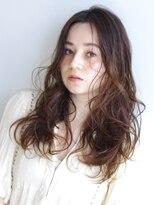 ラウンジ ヘアー 吉祥寺(ROUNGE hair)センターパート ニュアンスパーマロング