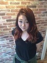 ヘアメイク オブジェ(hair make objet)秋色グラデーションカラー
