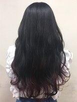 ヘアー アイス カンナ(HAIR ICI Canna)毛先カラー×ロング×コントラスト