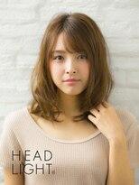 アーサス ヘアー デザイン 駅南店(Ursus hair Design by HEAD LIGHT)*Ursus hair*斜めバングミディアムウェーブ