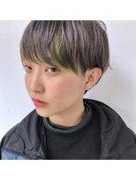 【Heidi 野崎】silverと前髪インナーカラー