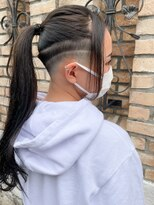 【roijir 山岸】スキンフェード女子 刈り上げ女子 卒業式ヘア