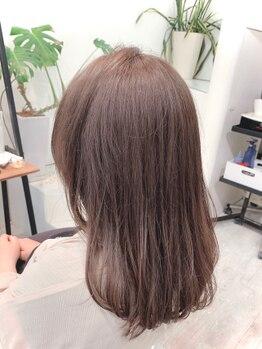 トランクヘアデザイン(TRUNK Hair Design)の写真/カラーをもっと可愛く魅せるカット技術!毛先までたっぷりな艶感で叶う、綺麗なミディアム・ロングstyleを*