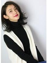 ケストラ(KESTRA)黒髪グレージュ艶カラー☆