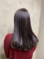 サロンドミルク 原宿(salon de MiLK)艶髪ロッキーロード ほんのりパープル 髪質改善