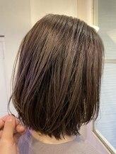 ヘアーエポック(hair epoque)外国人風コントラストハイライトカラーアッシュグレージュ