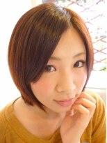 ベージュカラーツヤ髪ボブ|丸太町美容院Rinto