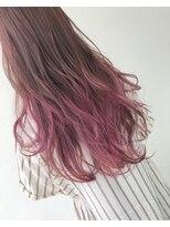 ヘアメイク オブジェ(hair make objet)pinkグラデーション