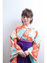ネオリーブクアトロ 横浜西口店(Neolive quattro)卒業式スタイル☆ボブでもかわいいゆるふわハーフアップ