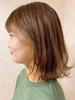 イーエル 近鉄パッセ店(e.ll)大人かわいい無造作カール☆外ハネ×インナーカラー