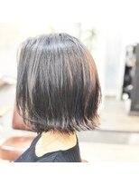 エトネ ヘアーサロン 仙台駅前(eTONe hair salon)【30代から40代におススメ】肩上の切りっぱなしボブ