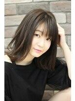 エピス 麻生1号店(epice)黒髪【切りっぱなしボブ】ハネ感が可愛いミディアムボブ