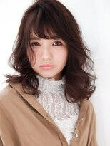 【MODE K's調布】外巻きモードセミロング×上品ブラウン3Dカラー