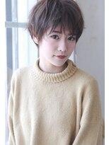 【Creo】マッシュショート×フォギーベージュ#セシルカット#前髪