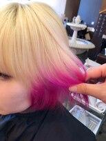 ローズピンクのグラデーションカラー