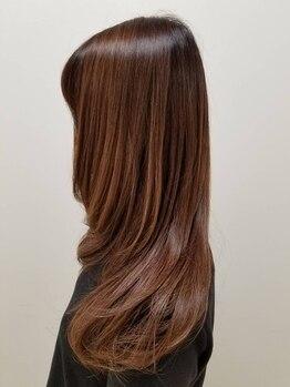 グー(GOO)の写真/美髪にこだわる大人女性のための髪質改善サロン《GOO》Trで手触り◎極ツヤが手に入り健康な美髪へ―…