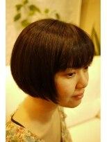 キーナ(Organic Hair KI-NA)ヘナ(オレンジ)でつやつや秋冬のボブ