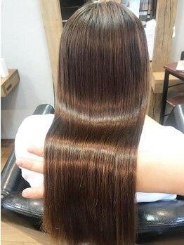 キートス(kiitos)の写真/【2021年3月OPEN!!】髪質改善エステ☆ずっと触れていたくなる質感に感動間違いなし!《縮毛矯正/髪質改善》