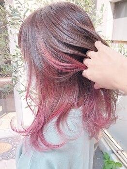 ルーツヘアーガーデン(Roots hair garden)の写真/淡色&透明感、色味の持続力が違うカラーを長く楽しむなら【Roots hair garden】イルミナ・アディクシーも◎
