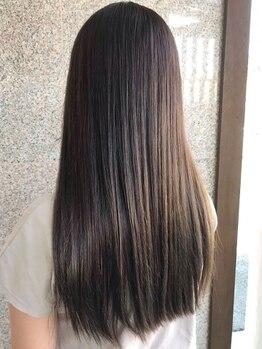 タビアカラーの写真/【西区カラー専門店】いつも綺麗でいたい貴女に…乾燥や紫外線ダメージ等でパサついた髪に◎