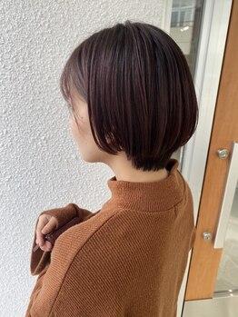 ページヘアー(PAGE HAIR)の写真/個性を磨くなら[PAGE HAIR]◇怖くてできなかったカラーも気軽に挑戦できる☆就活OKな暗めカラーも◎