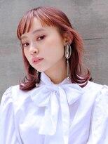 ギンザ ピークアブー 並木通り(GINZA PEEK A BOO)【デザインカラー】くびれミディ×ピンクインナーカラー