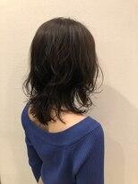 ヘアーエスクールステラ(hair S.COEUR stella)ミディアム × ゆるパーマ × うる艶ウエットヘアー