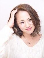 ヘアメイクエシェル 小松店(Hair Make e‐shell)かき上げバングスタイル