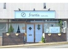 フランティス(frantis HAIR&SPA)の雰囲気(ブルーを基調としたフレンチアンティークなお店です。)