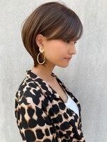 トゥーナ 表参道(tona)外ハネくびれイヤリングカラーイメチェンラベンダーカラー前髪