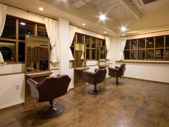 ヘアルーム シュエッチュール(hair room chouetture)の写真/広々とした店内で完全マンツーマン施術。周りの目を気にすることなく過ごせる落ち着いた上質空間が魅力♪