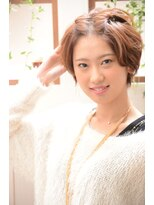 【miel hair blanc】ショート前髪ツイストアレンジ