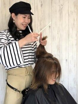"""ヘアーアンドラッシュ ジーナ(Hair&Lash Jiina)の写真/実力派女性スタイリストが勢ぞろいの""""Jiina""""トータルビューティーが叶うサロンで、自分へのご褒美を!"""