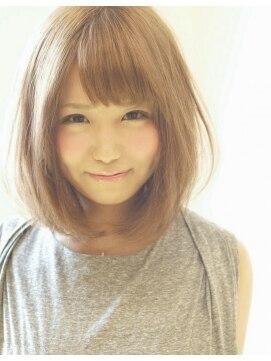 小顔に見える髪型 ミディアム ☆ナチュラルミディ☆