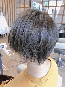 ベルポートヘア(Bellport hair)☆アシメショート×ダークオリーブアッシュ☆