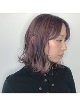 オーストヘアーリリー 京橋(Aust hair Rilly)pinkグレージュ
