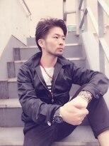 【M/RUDE】黒髪ツーブロック×グランジ刈り上げ