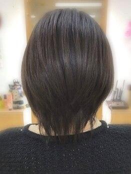 M O Pサロン童夢の写真/[小樽駅徒歩3分]大注目の《輝髪ザクロペインターカラー》導入☆白髪を残さずキレイに染める◎