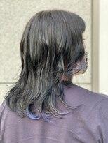 【Noci】黒髪にワンポイントメッシュ♪ブルー